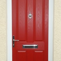 AFTER – Red composite door
