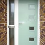 Composite front door in folly green