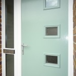Composite front door - close up