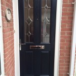 Composite door in navy