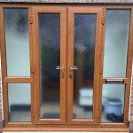 French doors with 2 x side screens